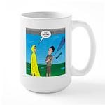 Umbrella in a Thunderstor 15 oz Ceramic Large Mug