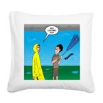 Umbrella in a Thunderstorm Square Canvas Pillow