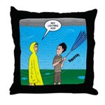 Umbrella in a Thunderstorm Throw Pillow