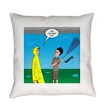 Umbrella in a Thunderstorm Everyday Pillow