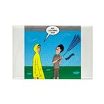 Umbrella in a Thunders Rectangle Magnet (100 pack)