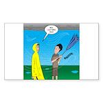Umbrella in a Thundersto Sticker (Rectangle 10 pk)