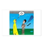 Umbrella in a Thunderstor Postcards (Package of 8)