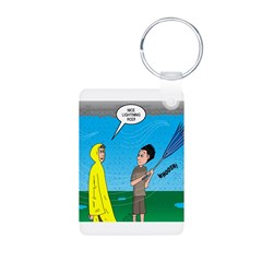 Umbrella in a Thunderstorm Keychains