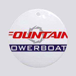 Fountain powerboats Round Ornament