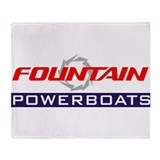 Fountain powerboats Fleece Blankets