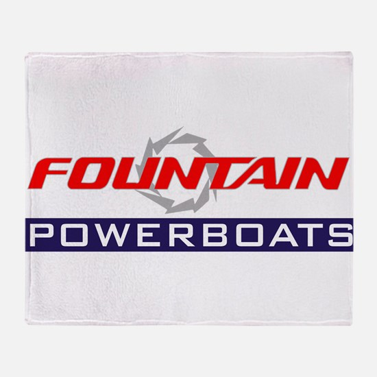 Fountain powerboats Throw Blanket