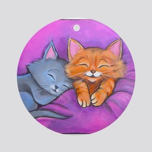 Kittens In Bed Ornament (Round)