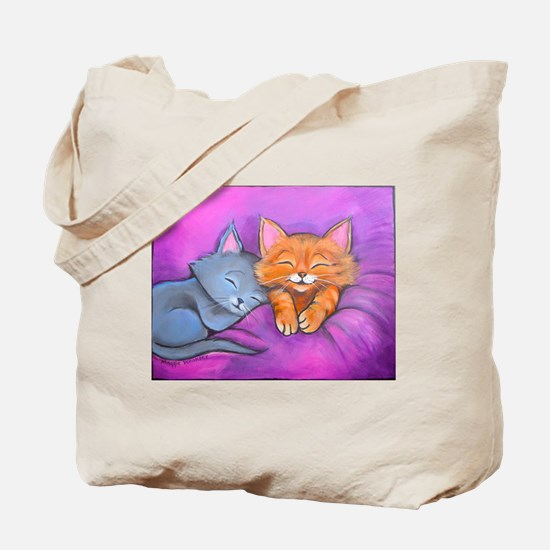 Kittens In Bed Tote Bag