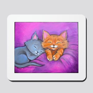 Kittens In Bed Mousepad