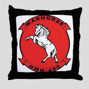 Hmh-465 War Horse Throw Pillow