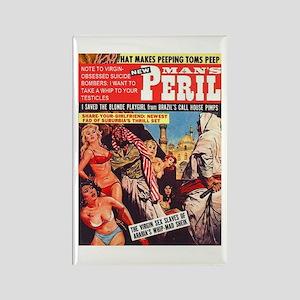 Vintage Sex Magazine Rectangle Magnet