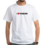 I Love Nerds - I Heart Dorks White T-Shirt