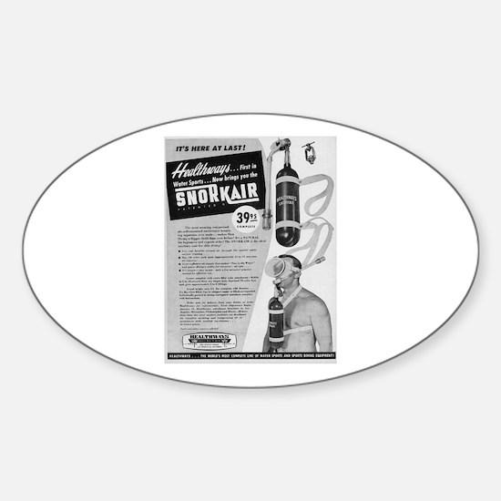 Vintage SCUBA Sticker (Oval)