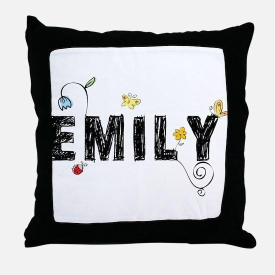 Floral Emily Throw Pillow