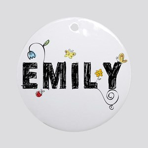 Floral Emily Ornament (Round)