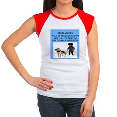 german shepherd trespasser Women's Cap Sleeve T-Sh
