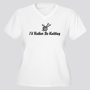 Funny knitting Women's Plus Size V-Neck T-Shirt