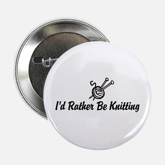 """Funny knitting 2.25"""" Button"""