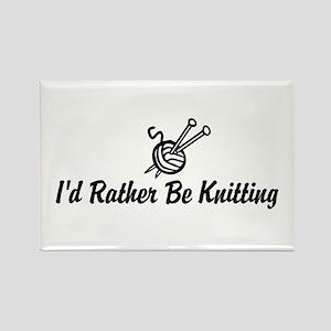 Funny knitting Rectangle Magnet