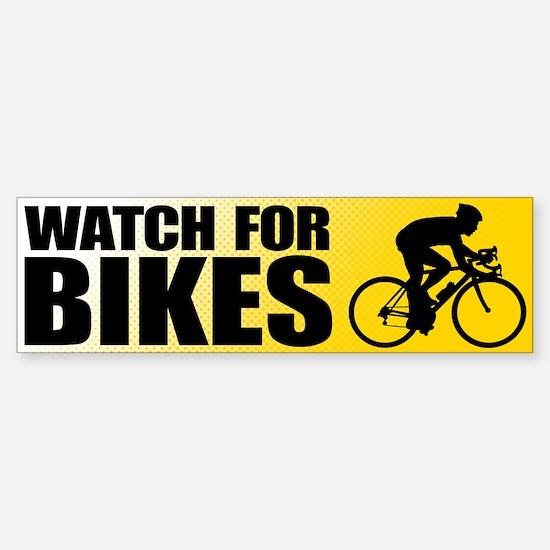 Watch for Bikes Bumper Bumper Bumper Sticker