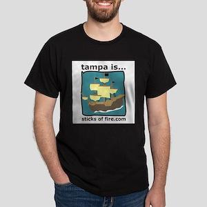 Tampa is...  Adventure Black T-Shirt