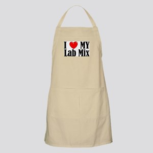 I Love My Lab Mix Apron