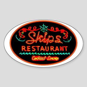 Skip's Restaurant Sticker (Oval)
