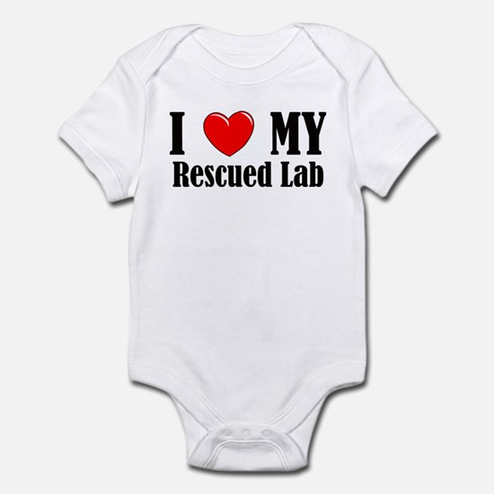 I Love My Rescued Lab Infant Bodysuit