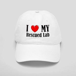 I Love My Rescued Lab Cap