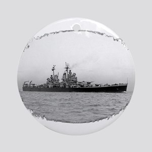 USS Canberra Ornament (Round)