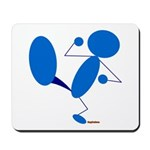 Karate Kick Blueman Mousepad