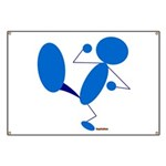 Karate Kick Blueman Banner