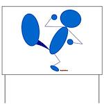 Karate Kick Blueman Yard Sign