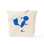 Karate Kick Blueman Tote Bag