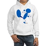 Karate Kick Blueman Hooded Sweatshirt