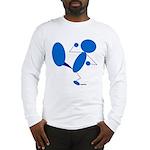Karate Kick Blueman Long Sleeve T-Shirt