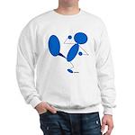 Karate Kick Blueman Sweatshirt