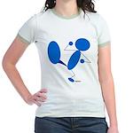Karate Kick Blueman Jr. Ringer T-Shirt