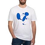 Karate Kick Blueman Fitted T-Shirt