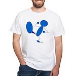 Karate Kick Blueman White T-Shirt