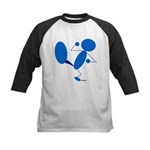 Karate Kick Blueman Kids Baseball Jersey