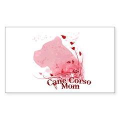 Cane Corso Mom Sticker (Rectangle)