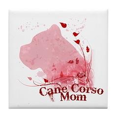 Cane Corso Mom Tile Coaster