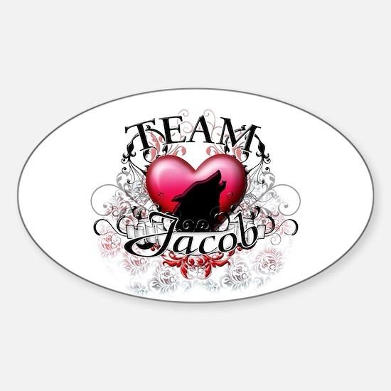 Team Jacob Tribal Sticker (Oval)