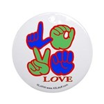 Square F.S. LOVE Ornament (Round)