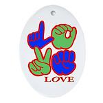 Square F.S. LOVE Ornament (Oval)