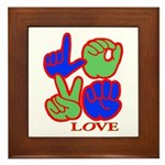 Square F.S. LOVE Framed Tile