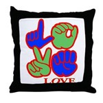 Square F.S. LOVE Throw Pillow