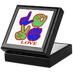 Square F.S. LOVE Keepsake Box